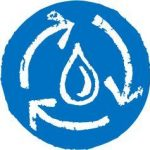 Icon illustrating water cycle - part of what is regenerative farming and gardening